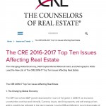 The CRE 2016-2017 Top Ten Issues Affecting Real Estate - Counselors of Real Estate
